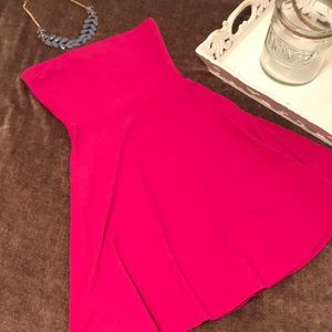 Express Hot Pink Strapless Dress